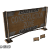 Предостерегающий знак строительных работ (Caution Construction Zone Sign)