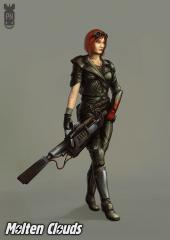 Девушка-огнемётчик (Flamer girl)